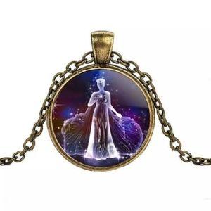 Jewelry - Virgo Zodiac Glass Cabochon Necklace